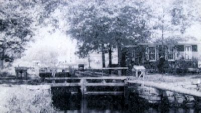 Canal Office at Lock No. 1 Photo on Marker image. Click for full size.