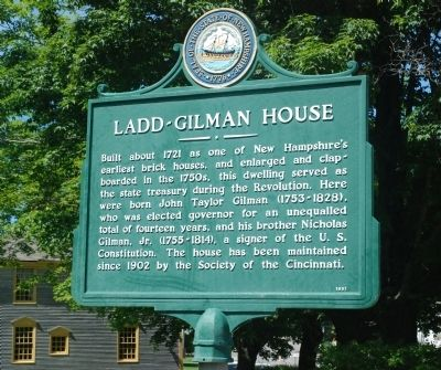Ladd-Gilman House Marker image. Click for full size.