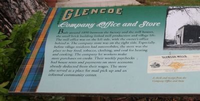 Glencoe - Company Office and Store Marker image. Click for full size.