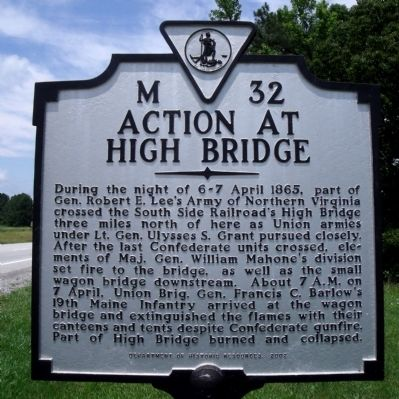 Action at High Bridge Marker image. Click for full size.