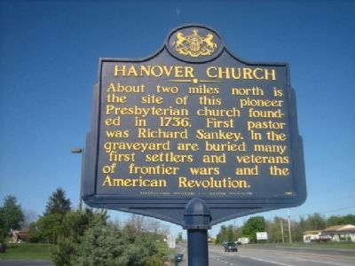 Hanover Church Marker image. Click for full size.