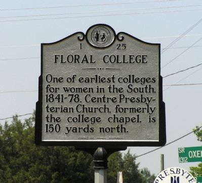 Floral College Marker image. Click for full size.