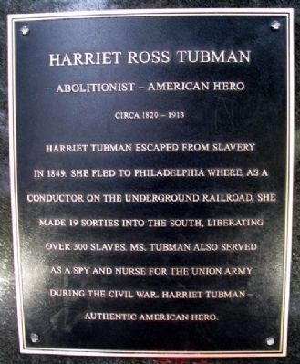 Harriet Ross Tubman Marker image. Click for full size.