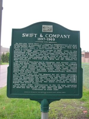 Swift & Company Marker image. Click for full size.