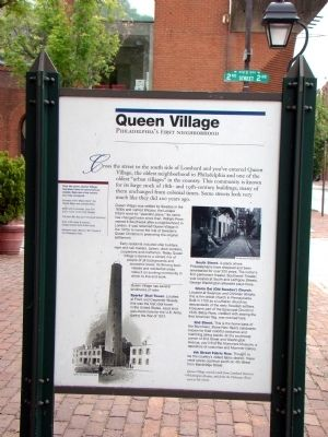Queen Village Face of Marker image. Click for full size.