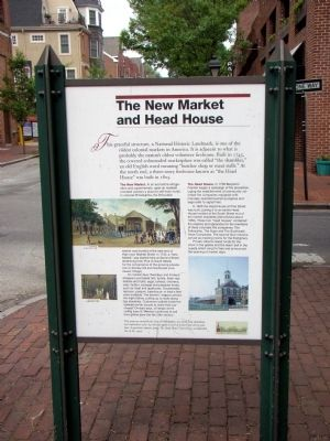The New Market and Head House Face of Marker image. Click for full size.