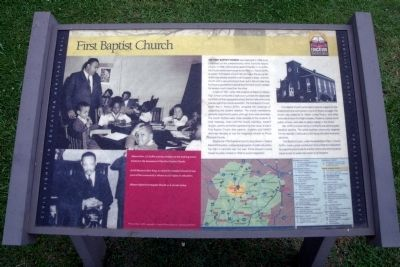 First Baptist Church CRIEHT Marker image. Click for full size.