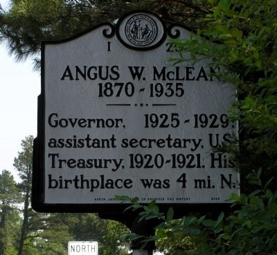 Angus W. McLean Marker image. Click for full size.