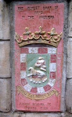 The Oldest Coat of Arms in the Americas image. Click for full size.