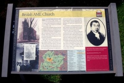 Beulah AME Church CRIEHT Marker image. Click for full size.