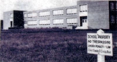 Prince Edward County High School, c1959. image. Click for full size.