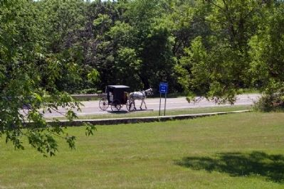 Amish Horse & Buggy Seen from Inspiration Point image. Click for full size.