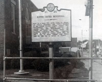 Kiffin Y. Rockwell Marker, Newport, Tennessee image. Click for full size.