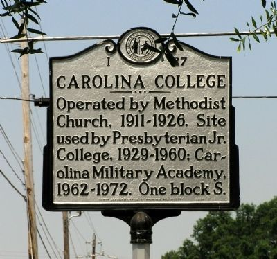 Carolina College Marker image. Click for full size.