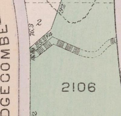 The John T. Brush Stairway as depicted on 1916 NYC Tax Map image. Click for full size.
