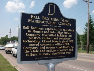"Side 'B"" - - Ball Brothers Glass Manufacturing Company Marker image. Click for full size."