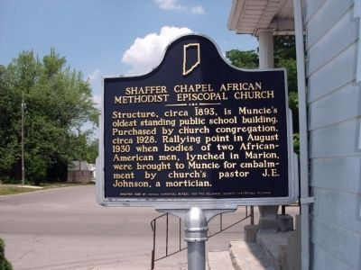Shaffer Chapel African Methodist Episcopal Church Marker image. Click for full size.