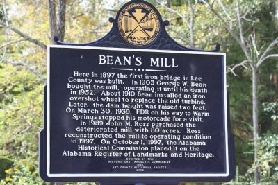 Bean's Mill Marker image. Click for full size.