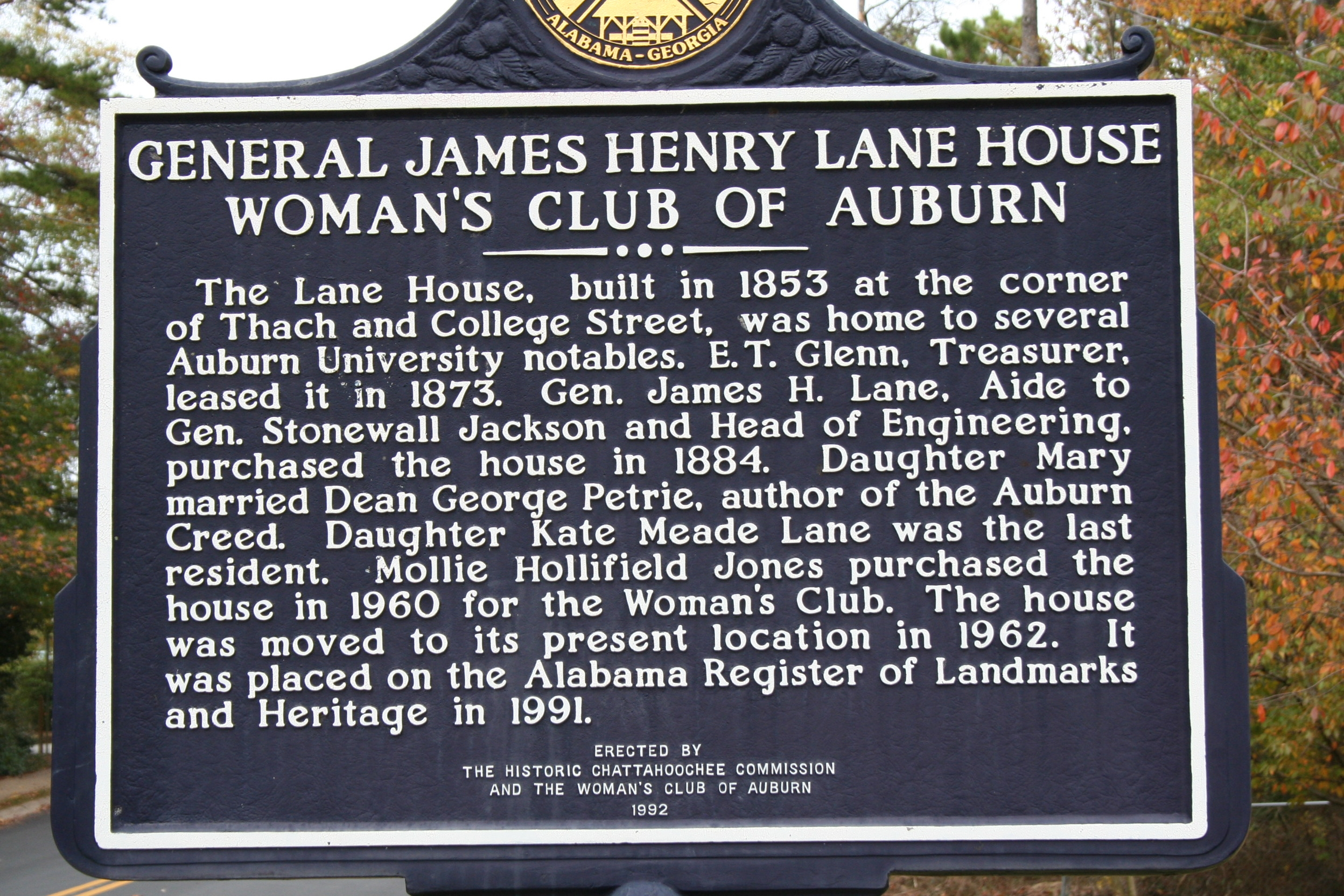 General James Henry Lane House Marker