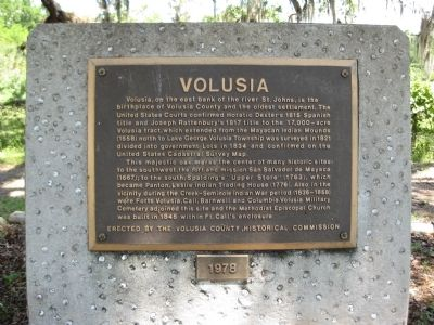 The Volusia Marker image. Click for full size.