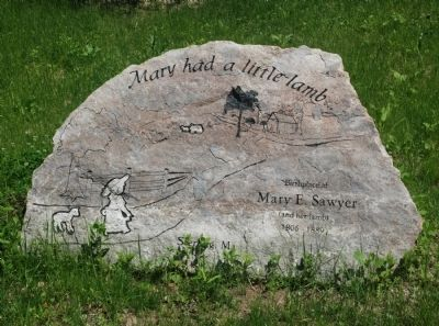 Mary Sawyer's Birthplace Marker image. Click for full size.