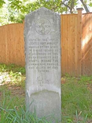Fort Ninigret Marker Marker image. Click for full size.