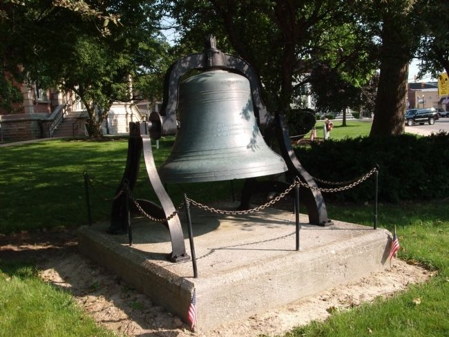 """ 1880 "" Randolph County 'Courthouse' Bell image. Click for full size."