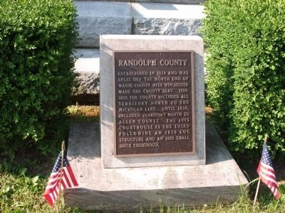 Randolph County (Indiana) Marker image. Click for full size.
