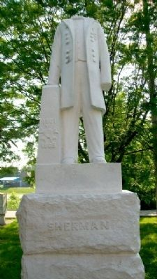 Union Veteran Legion Sherman Monument image. Click for full size.
