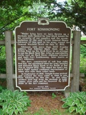 Fort Koshkonong Marker image. Click for full size.