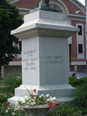 Front & Right Side View - - Civil War Memorial - Henry County Indiana Marker image. Click for full size.