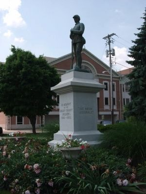 Full Right View - - Civil War Memorial - Henry County Indiana Marker image. Click for full size.