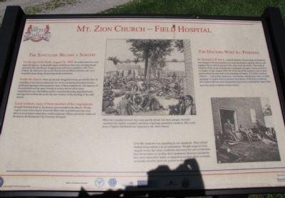 Mt. Zion Church - Field Hospital Marker image. Click for full size.