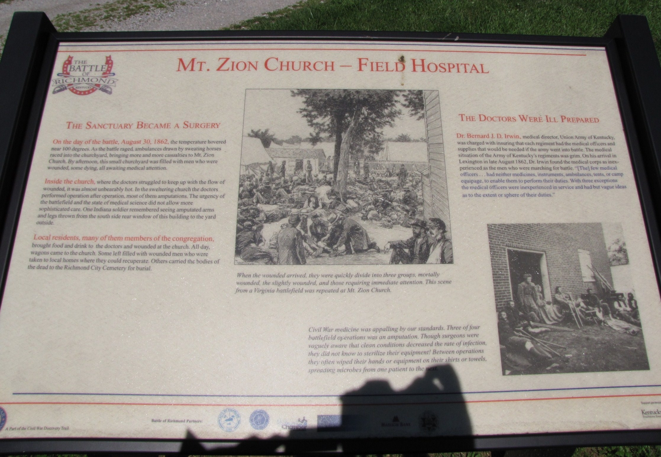 Mt. Zion Church - Field Hospital Marker