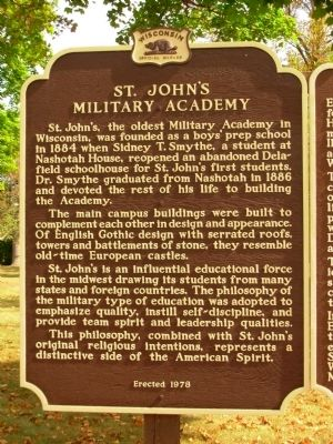St. John's Military Academy Marker image. Click for full size.