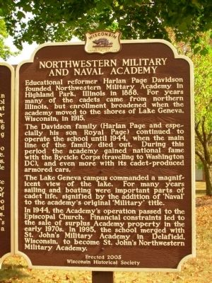 Northwestern Military and Naval Academy Marker image. Click for full size.