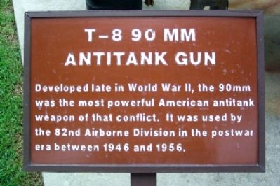 T-8 90mm Antitank Gun Marker image. Click for full size.