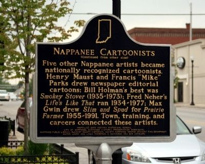 Nappanee Cartoonists Marker image. Click for full size.
