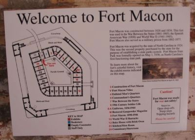 Welcome to Fort Macon Marker image. Click for full size.