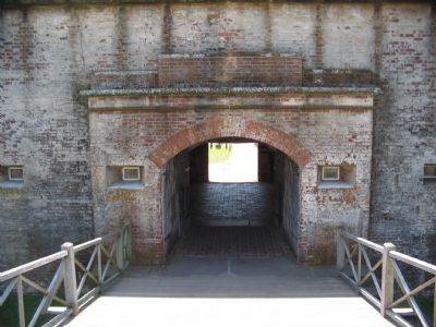 Fort Macon Sally Port image. Click for full size.