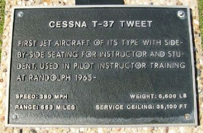 Cessna T-37 Tweet Marker image. Click for full size.
