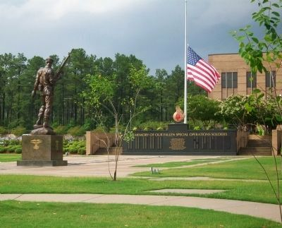 USASOC Memorial Wall & Plaza image. Click for full size.