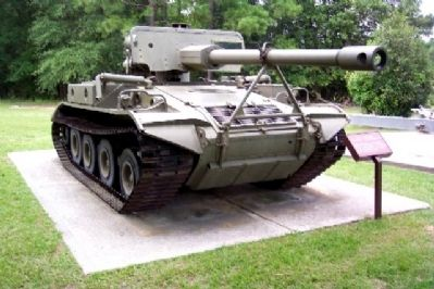M-56 Scopion Self-Propelled Antitank Gun and Marker image. Click for full size.