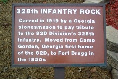 328th Infantry Rock Marker image. Click for full size.