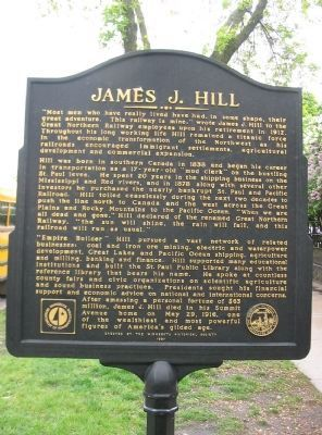 James J. Hill Marker image. Click for full size.