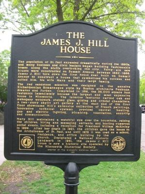 The James J. Hill House Marker image. Click for full size.