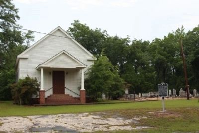 Walnut Grove Church Marker and Cemetery image. Click for full size.