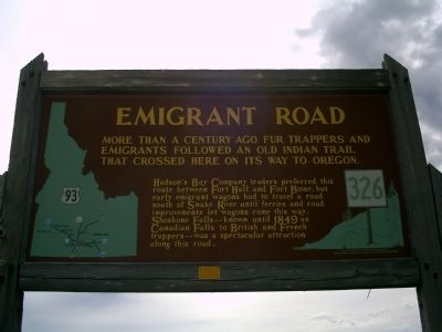 Emigrant Road Marker image. Click for full size.