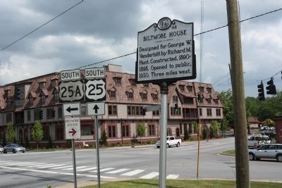 Biltmore House Marker at McDowell St. (U.S. 25) and Biltmore Estate Drive image. Click for full size.