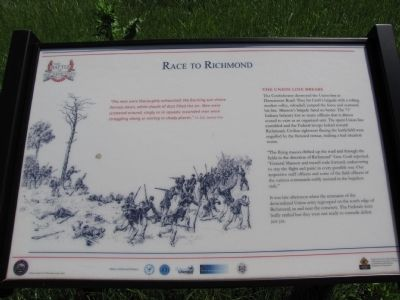 Race to Richmond Marker image. Click for full size.